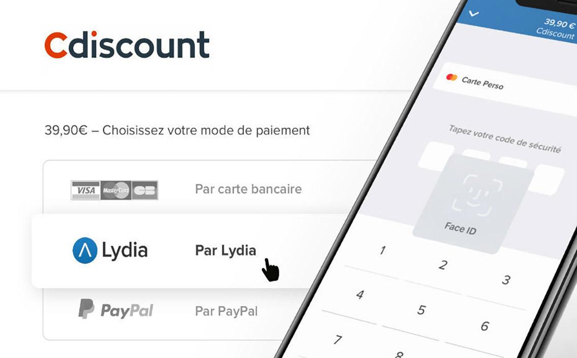 Cdiscount choisit l'application Lydia pour le paiement mobile.