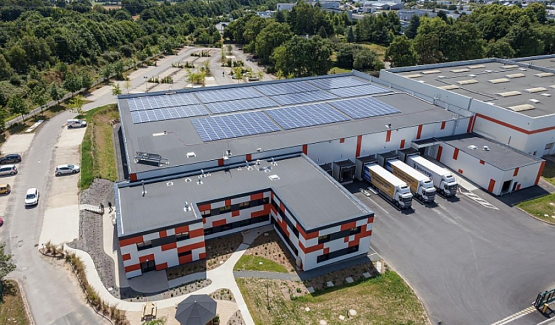 Construction d'une plate-forme de 35 000 m² pour Biocoop à Tinténiac.