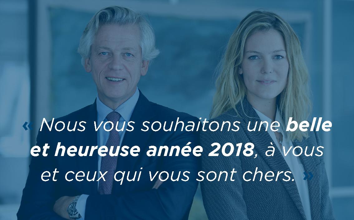 Nous vous souhaitons une très belle et heureuse année 2018 !