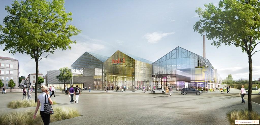 Ouverture du pôle commerces et loisirs Hall in One à St-Chamond.