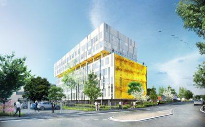 Lancement des travaux de l'immeuble de bureaux Oxane à Nantes.