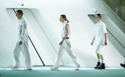 Le créateur Louis Gabriel Nouchi à la Paris Fashion Week Menswear S/S 2020.